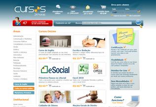 Website cursos24horas.com.br desktop preview