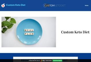Website custom-keto-diets.site.pro desktop preview