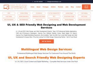 Website cutewebdesign.co.uk desktop preview