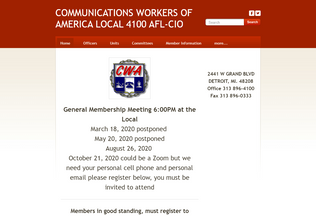 Website cwa4100.org desktop preview