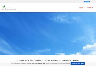 Website daftarbandarqq.page.tl desktop preview
