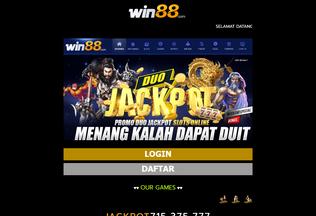 Website daftarwin88.com desktop preview