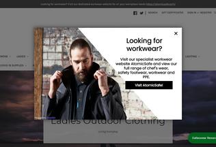 Website dallaswear.com desktop preview