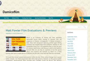 Website damicofilm.net desktop preview