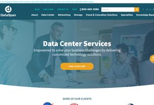 Website dataspan.biz desktop preview