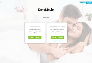 Website dateme.io desktop preview