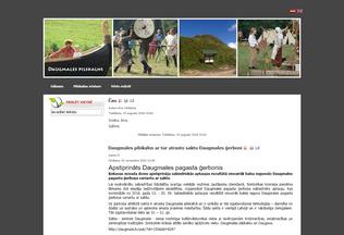 Website daugmalespilskalns.lv desktop preview