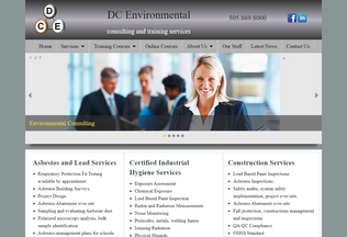 Website dcenvironmental.net desktop preview