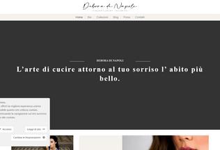 Website deboradinapoli.com desktop preview