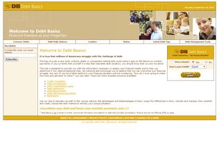 Website debt-basics.com desktop preview