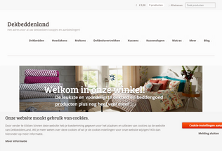 Website dekbeddenland.nl desktop preview