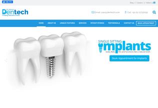 Website dentech.co.in desktop preview
