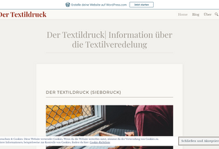 Website der-textildruck.de desktop preview