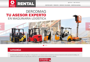 Website dercomaqrental.cl desktop preview