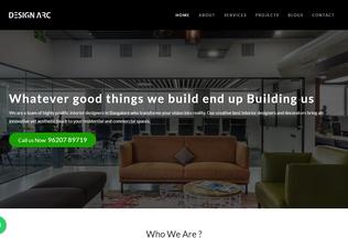 Website designarcinteriors.com desktop preview