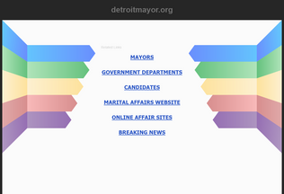 Website detroitmayor.org desktop preview
