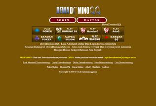 Website dewadominoqqiu.com desktop preview