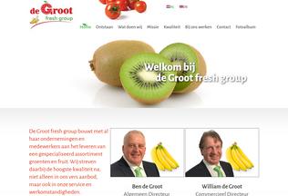Website dgfruit.be desktop preview