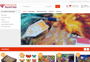 Website diamondart.us desktop preview