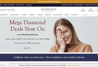 Website diamondsfactory.co.uk desktop preview