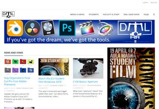 Website digitalmedialab.johncabot.edu desktop preview