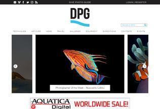 Website divephotoguide.com desktop preview