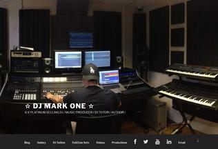 Website djmarkone.co.uk desktop preview