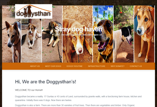 Website doggysthan.in desktop preview