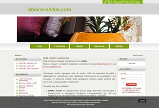 Website donice-online.com desktop preview