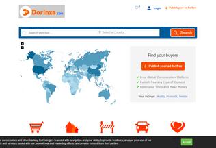 Website dorinza.com desktop preview