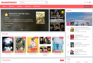 Website dramakoreaku.net desktop preview