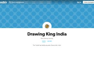 Website drawingkinindia.tumblr.com desktop preview