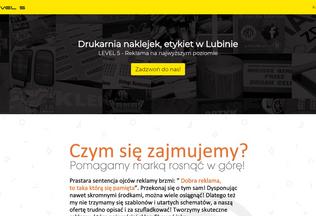 Website drukarnianaklejek.lubin.net.pl desktop preview