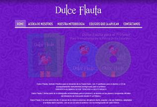 Website dulceflauta.cl desktop preview