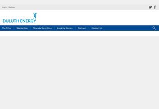 Website duluthenergy.org desktop preview