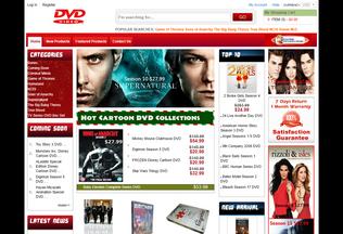 Website dvdoncheap.com desktop preview