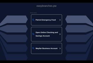 Website easybranches.pw desktop preview