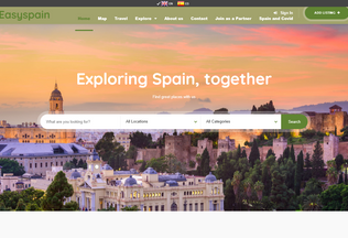 Website easyspain.nl desktop preview
