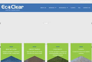 Website ecoclearclean.com desktop preview