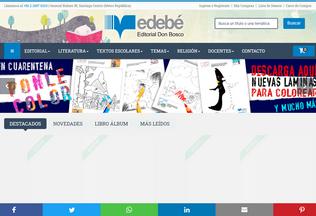 Website edebe.cl desktop preview