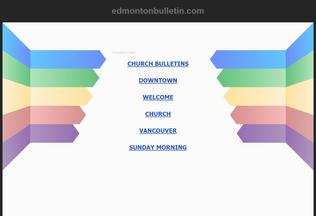 Website edmontonbulletin.com desktop preview