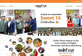 Website eggfirst.com desktop preview