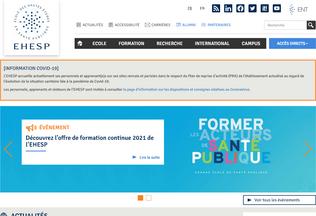 Website ehesp.fr desktop preview