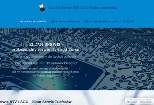 Website eldanserwis.pl desktop preview