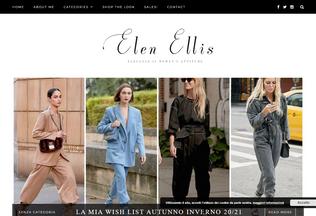 Website elenellis.com desktop preview