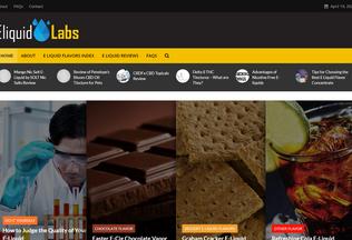 Website eliquidlabs.us desktop preview