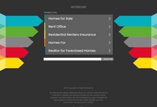 Website em3d.net desktop preview