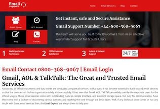 Website email-helpline-number.co.uk desktop preview