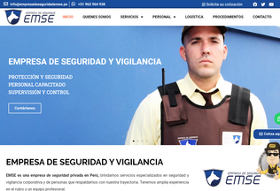 Website empresadeseguridademse.pe desktop preview