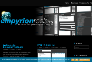 Website empyriontools.org desktop preview